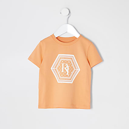 Mini boys orange 'future icon' T-shirt