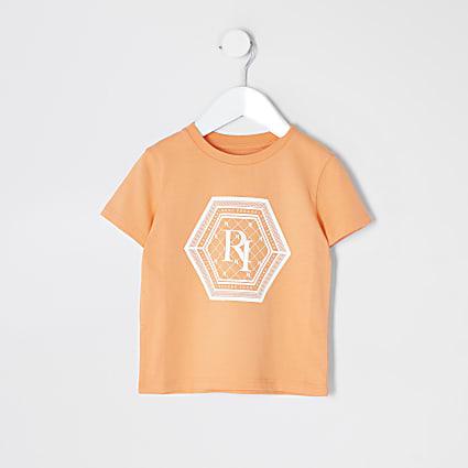 Mini boys orange 'future icon' t-shirt