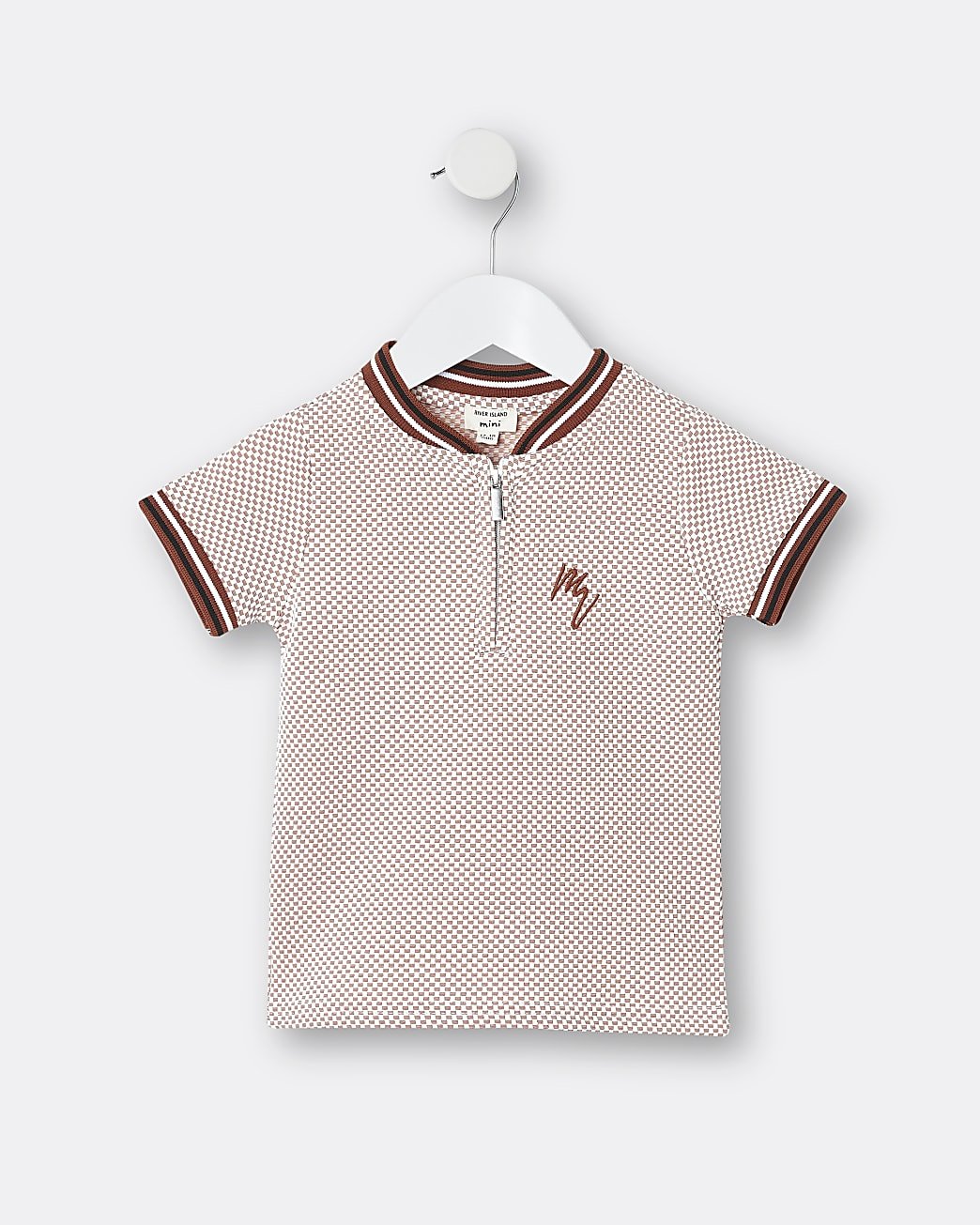Mini boys orange Maison Riviera polo shirt