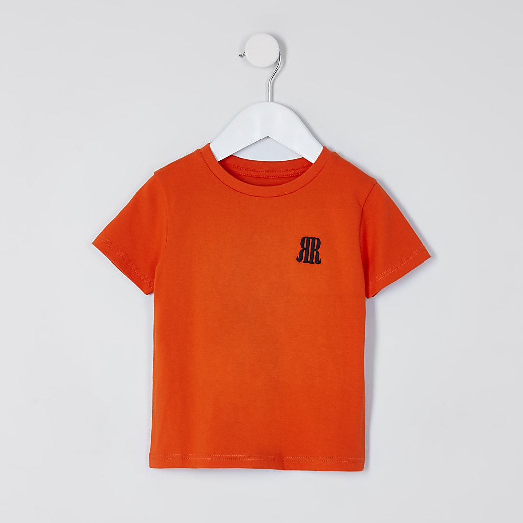 Mini boys orange RR t-shirt