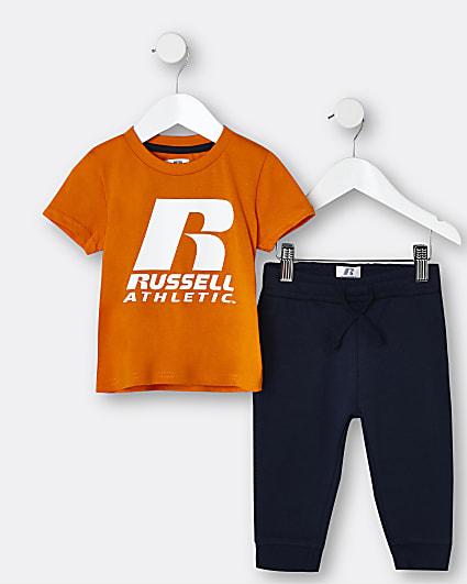 Mini boys orange Russel Athletic outfit