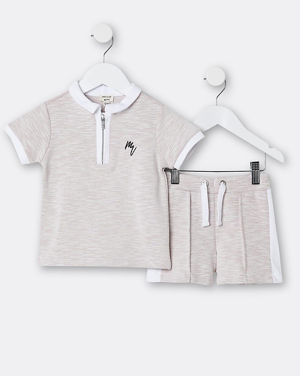 Mini boys pink Maison Riviera t-shirt outfit