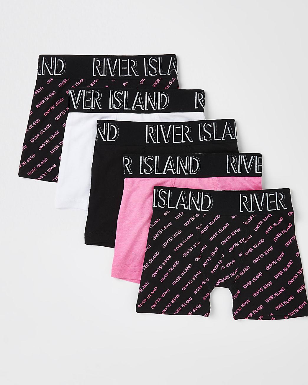 Mini boys pink RI monogram boxers 5 pack