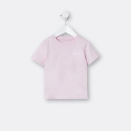 Mini boys pink River t-shirt