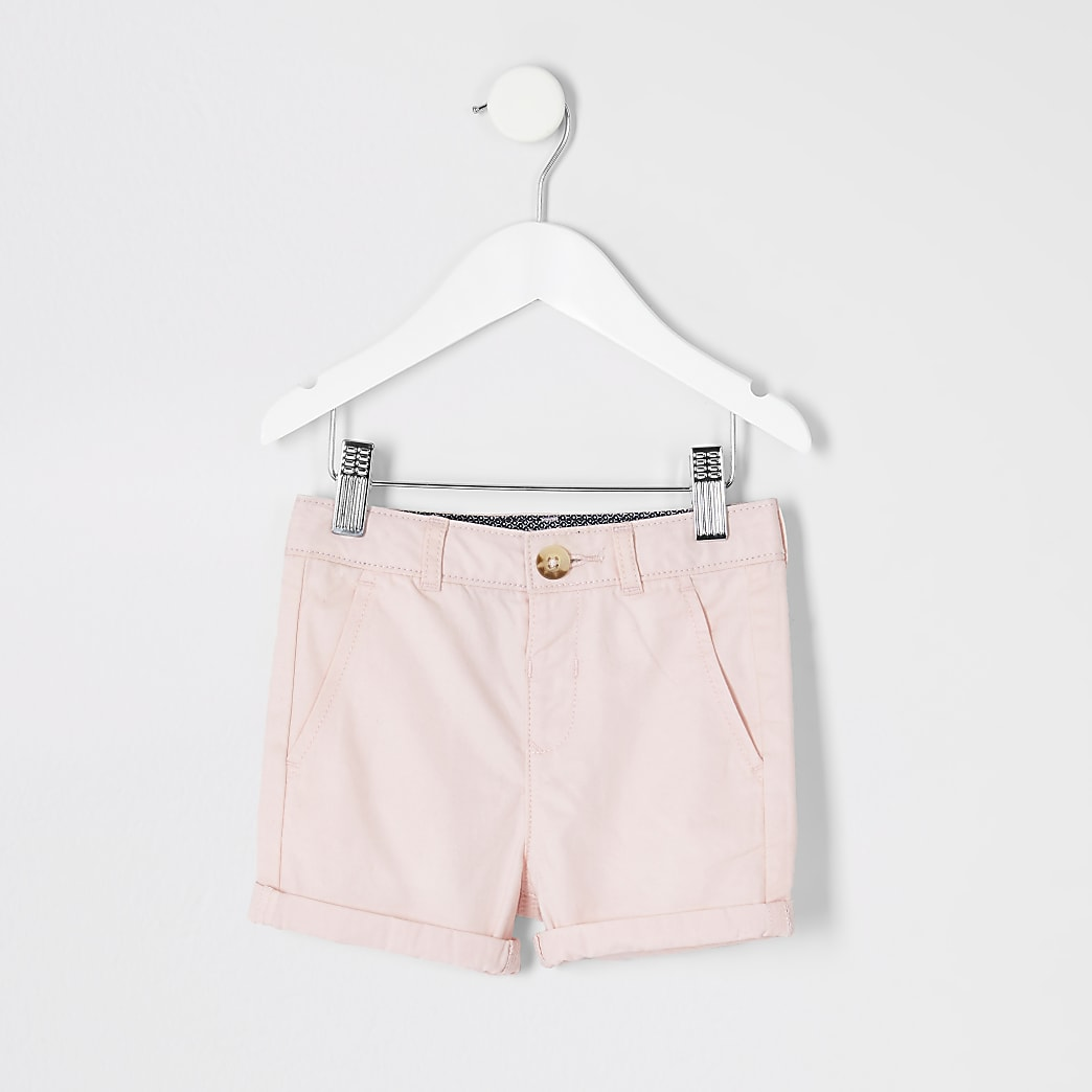 Mini boys pink smart chino shorts