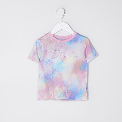 Mini boys pink tie dye prolific t-shirt
