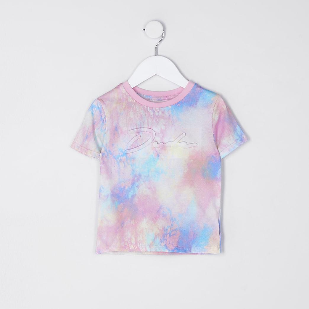 Mini boys pink tie dye prolific t-shirt