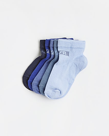 Mini boys purple ombre trainer socks 5 pack
