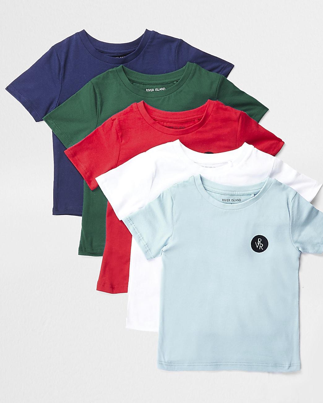 Mini boys red 5 pack t-shirts