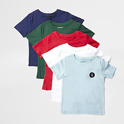 Mini boys red 5 pack t-shirts