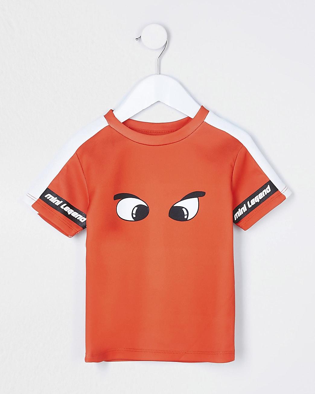 Mini boys red dinosaur eyes t-shirt