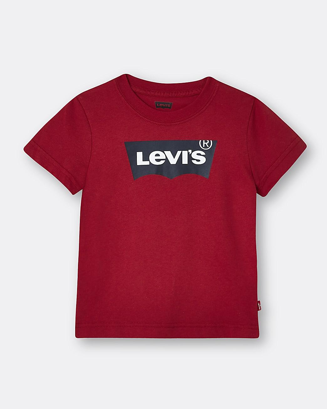 Mini boys red Levi's t-shirt
