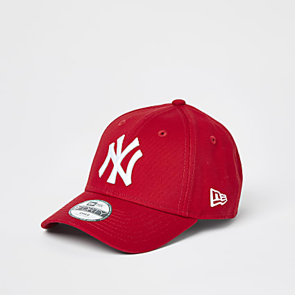 Mini boys red New Era NY cap