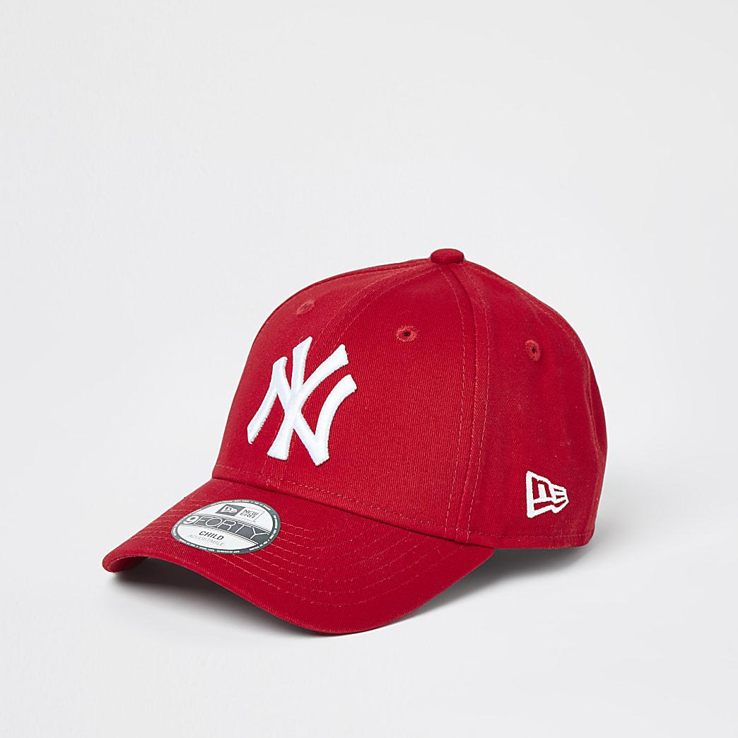 Mini boys red New Era NY cap
