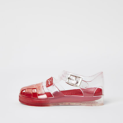 Mini boys red ombre jelly sandals