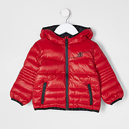 Mini boys red padded jacket