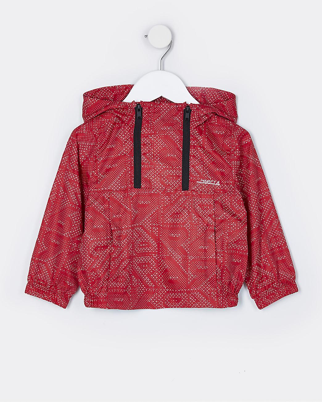 Mini boys red RR hooded jacket