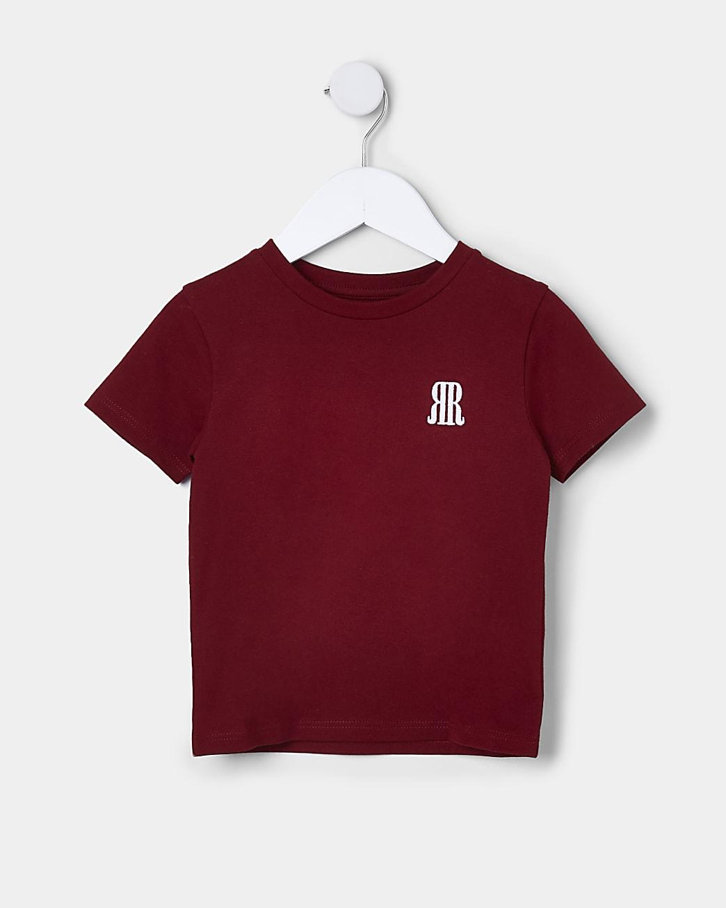 Mini boys red RR t-shirt