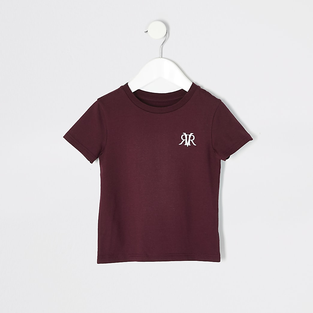 Mini boys red RVR short sleeve T-shirt