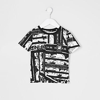 Mini boys RI Active black printed T-shirt