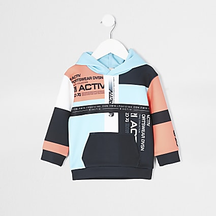 Mini boys RI Active colour blocked hoodie