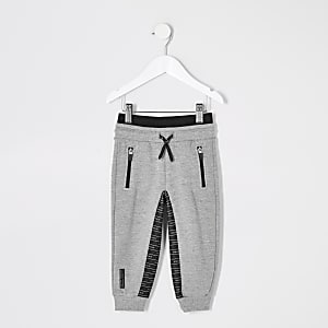 RI Active –Pantalon de jogging gris à empiècementsMini garçon
