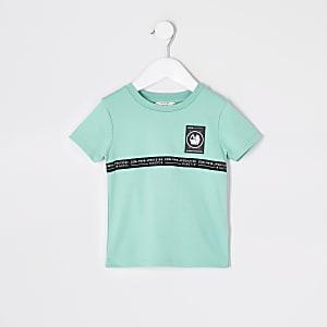Mini - RI Active - Muntkleurig T-shirt met bies voor jongens
