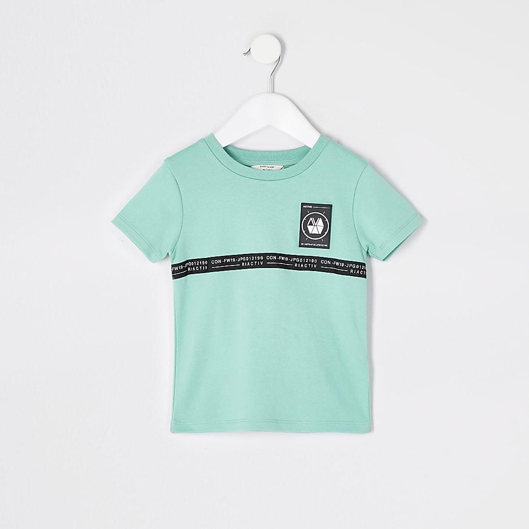 Mini boys RI Active mint tape T-shirt