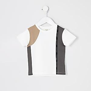 Mini– Weißes T-Shirt von RI Active in Blockfarben für Jungen
