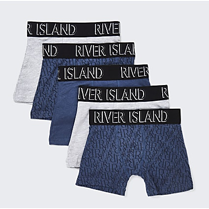 Mini boys RI monogram boxers 5 pack