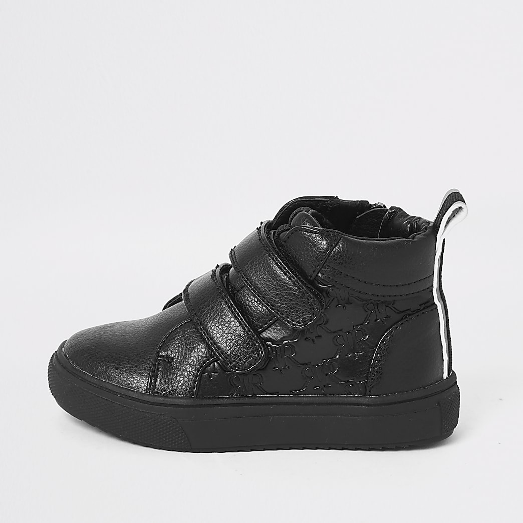 Mini boys RI monogram velcro trainers
