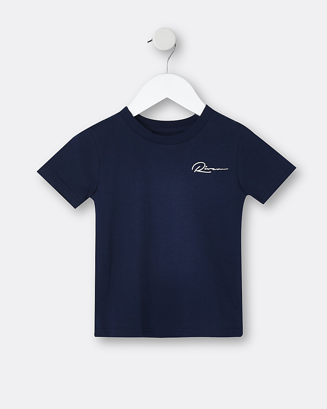 Mini boys 'River' embroidered t-shirt