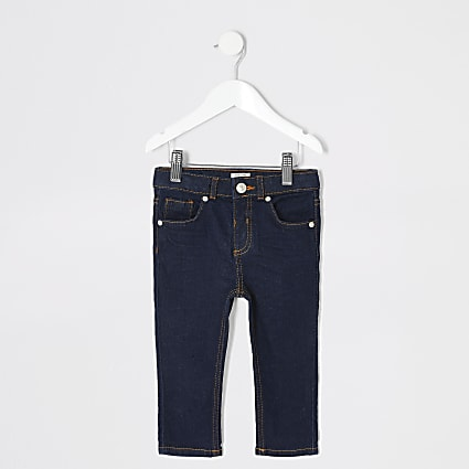 Mini boys Sid dark denim skinny jeans