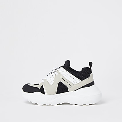 Mini boys stone caged chunky trainers