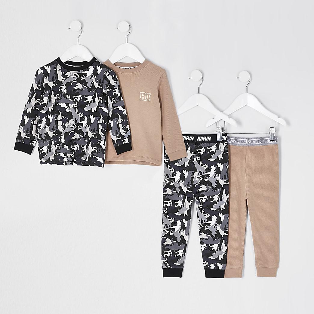 Mini boys stone camo pyjama set