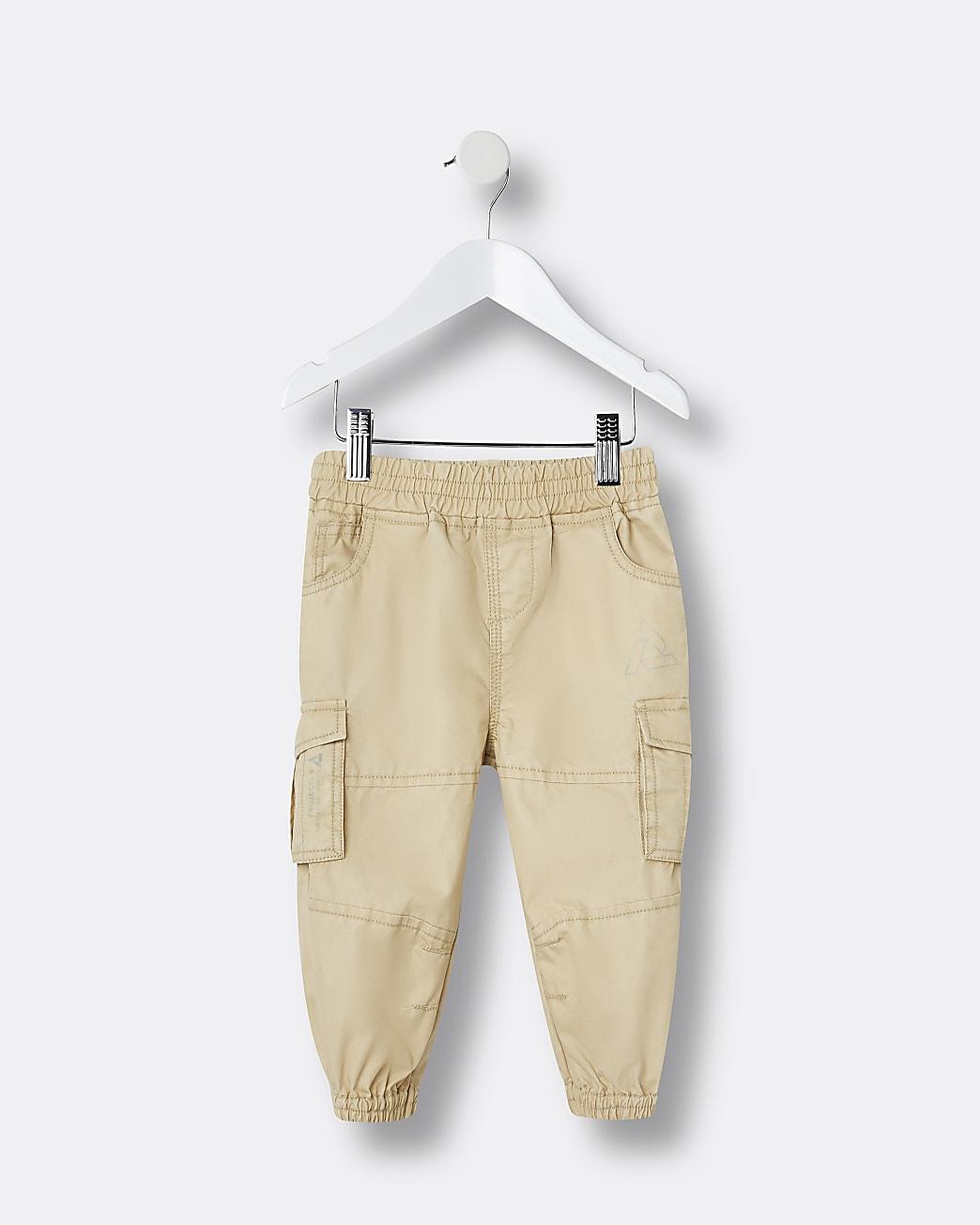 Mini boys stone cargo trousers