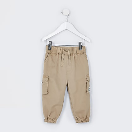 Mini boys stone cargo trousers