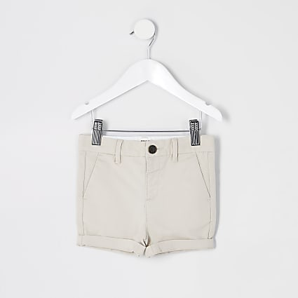 Mini boys stone chino shorts