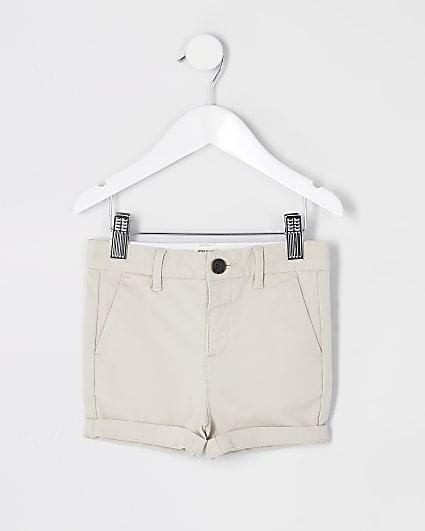 Mini boys stone chino shorts