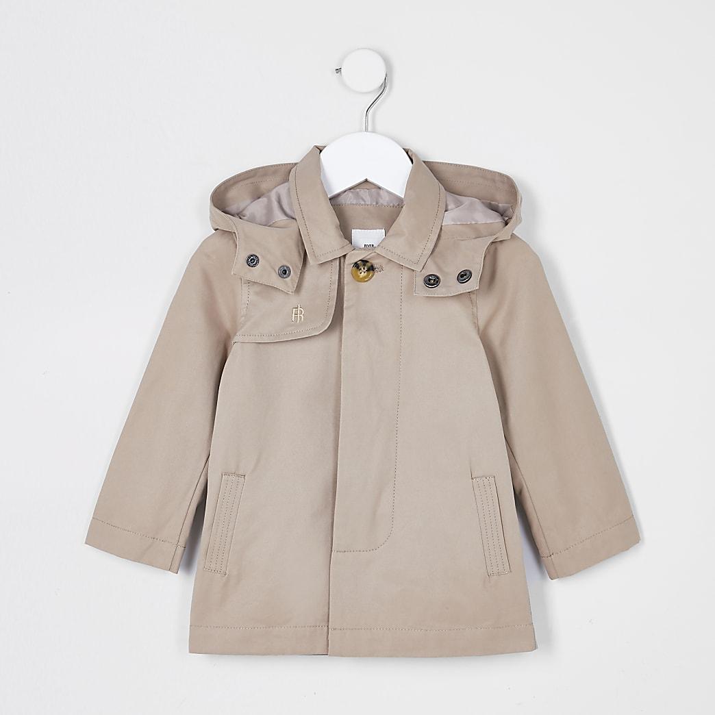 Mini boys stone hooded jacket