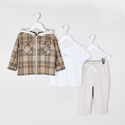 Mini boys stone 'Maison Riviera' 3 piece set