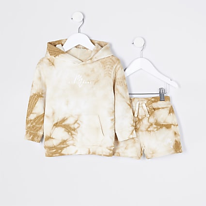 Mini boys stone Maison Riviera hoodie set