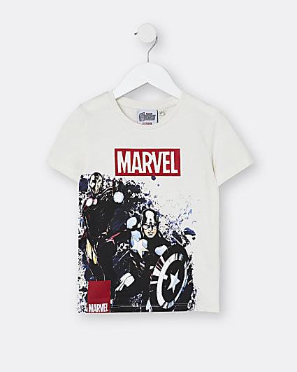 Mini boys stone Marvel embroidered t-shirt