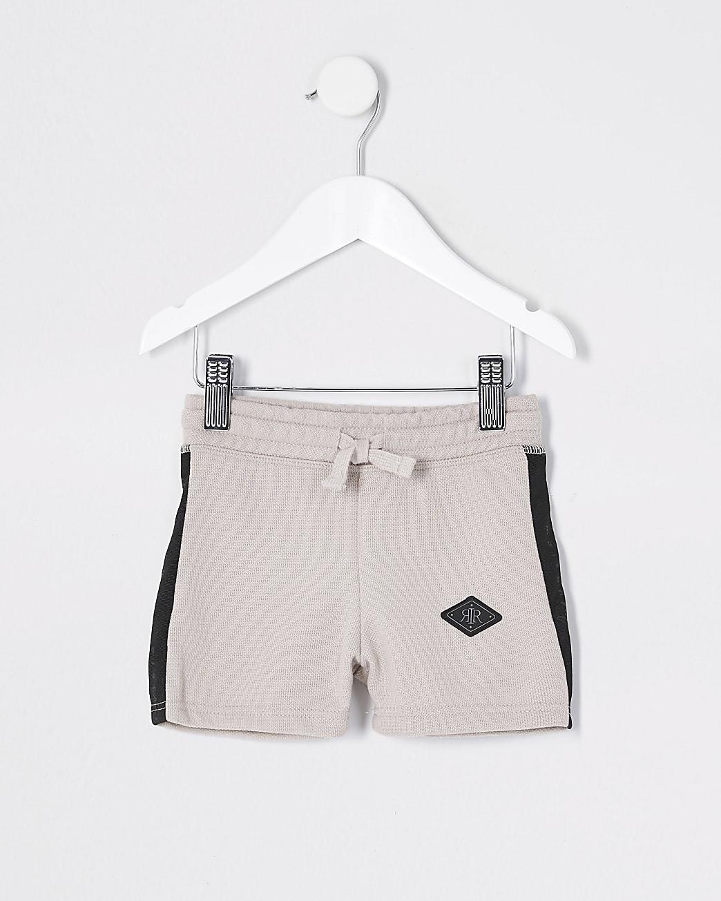Mini boys stone pique shorts
