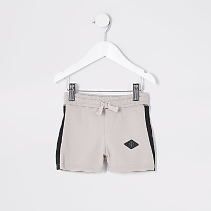 Mini boys stone pique shorts