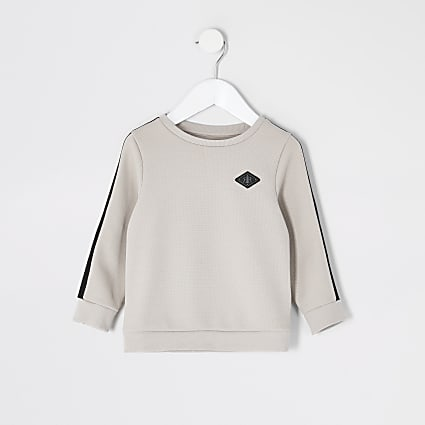 Mini boys stone pique tape Maison sweatshirt