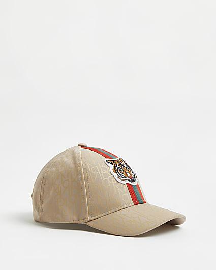 Mini boys stone RI monogram tiger cap