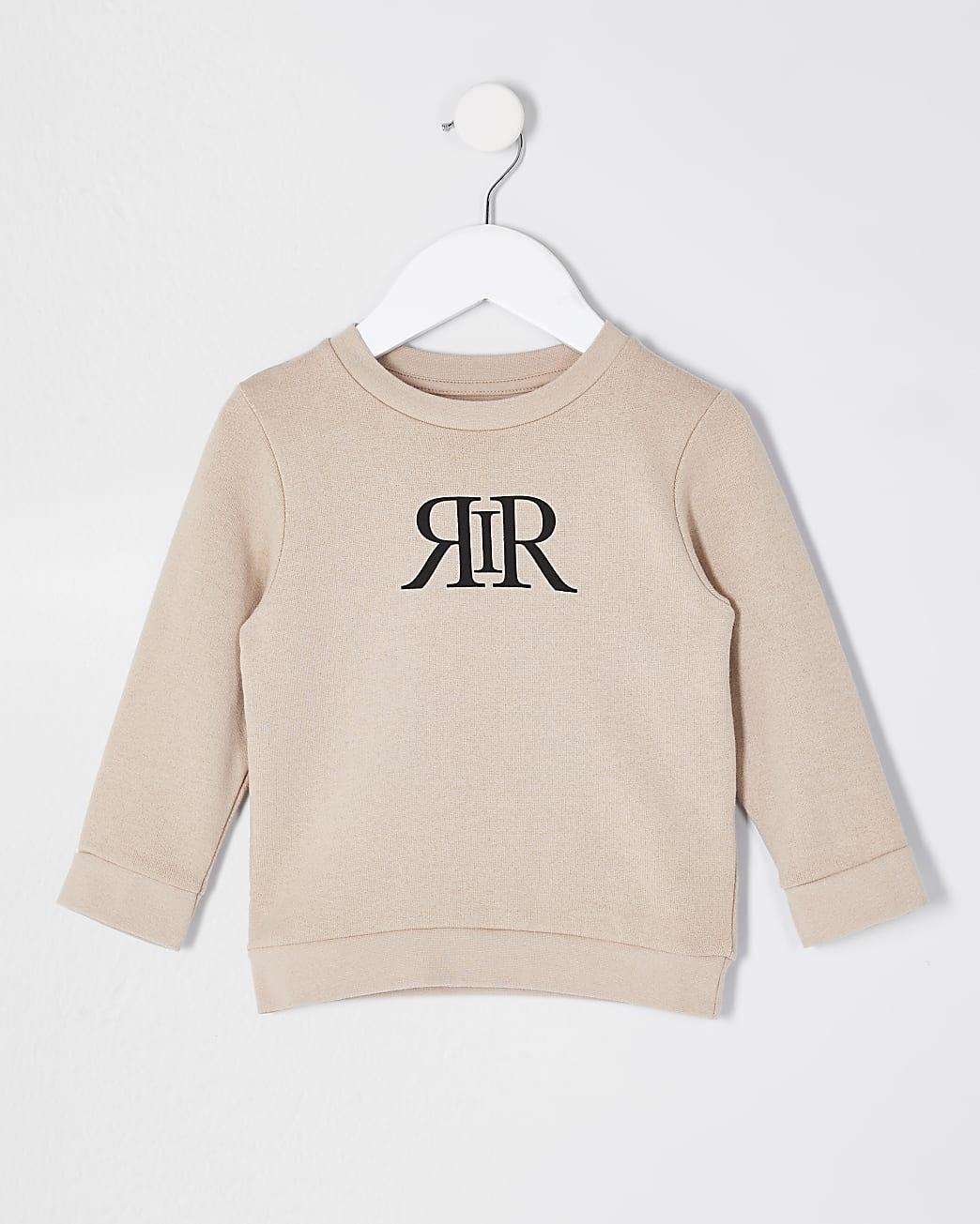 Mini boys stone RIR print sweatshirt