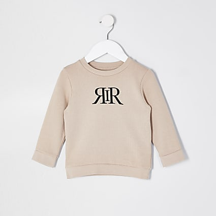 Mini boys stone RIR print sweatshirt