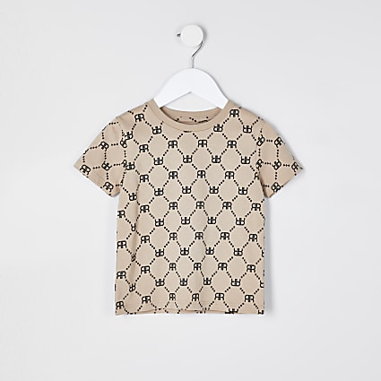 Mini boys stone RIR printed t-shirt